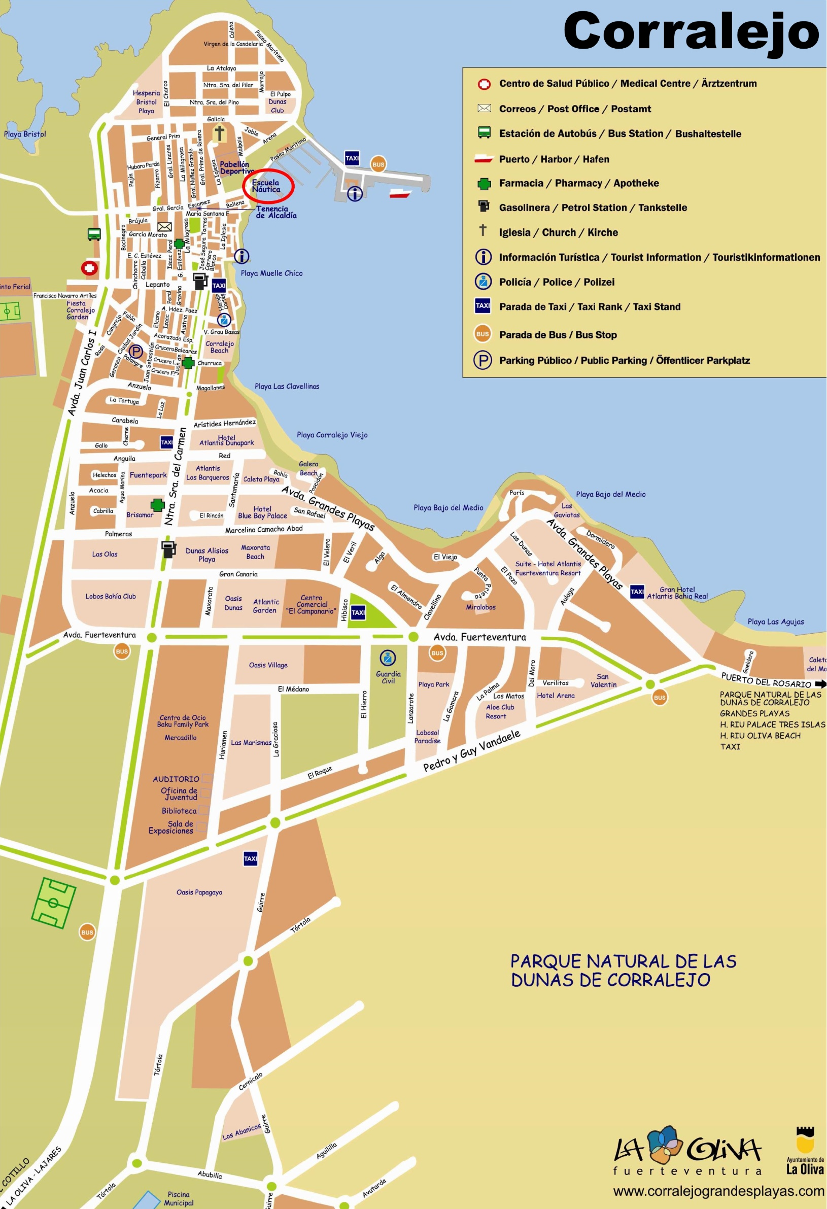 Map Of Corralejo Corralejo tourist map