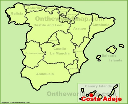 Costa Adeje Map Costa Adeje Maps | Spain | Maps of Costa Adeje