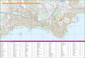 Costa Adeje, Los Cristianos and Playa de las Américas accommodation map