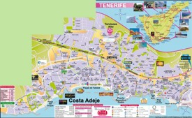 Costa Adeje tourist map
