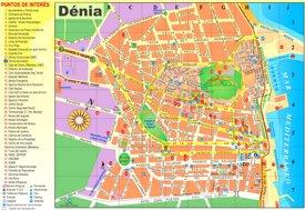 Denia tourist map