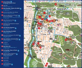 Elche city center map