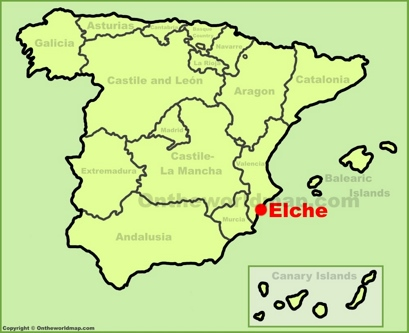 Elche Location Map