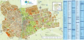 Elche tourist map