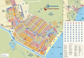 Empuriabrava hotels and sightseeings map