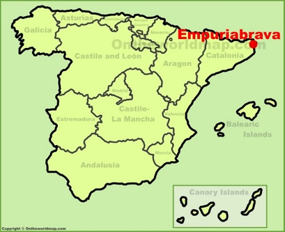 Empuriabrava Maps Spain Maps of Empuriabrava Ampuriabrava
