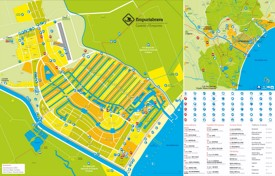 Empuriabrava tourist map