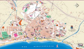 Estepona tourist map