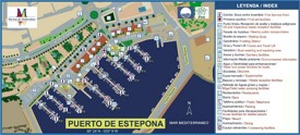 Port of Estepona map