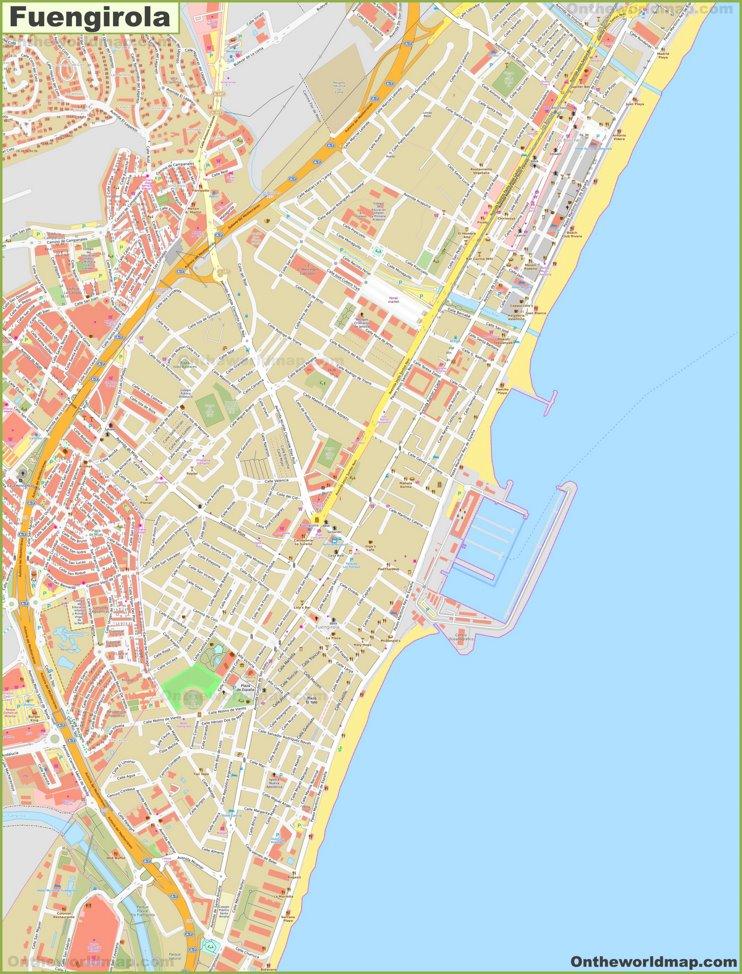 Detailed map of Fuengirola