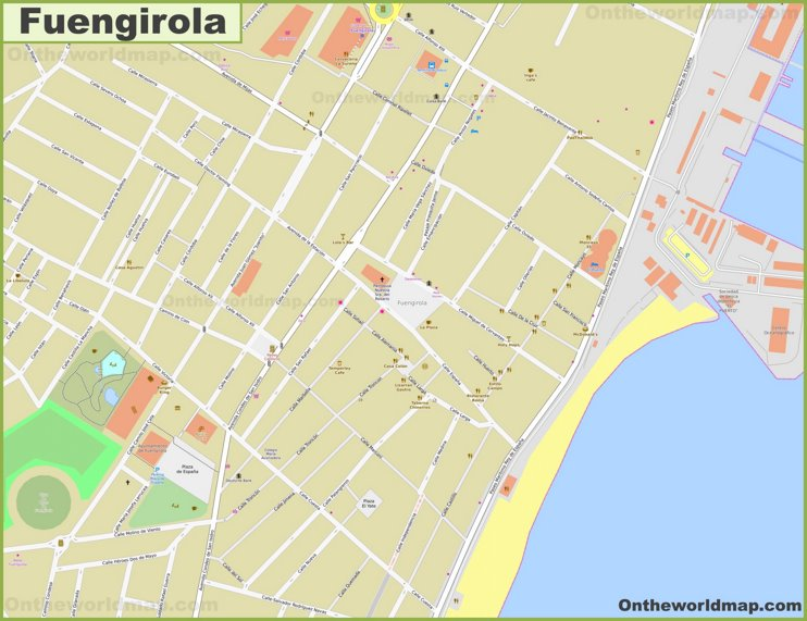 Fuengirola city center map