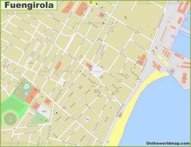 Fuengirola city center map