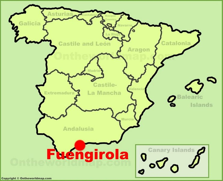 Fuengirola location on the Spain map