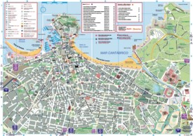 Gijón tourist map