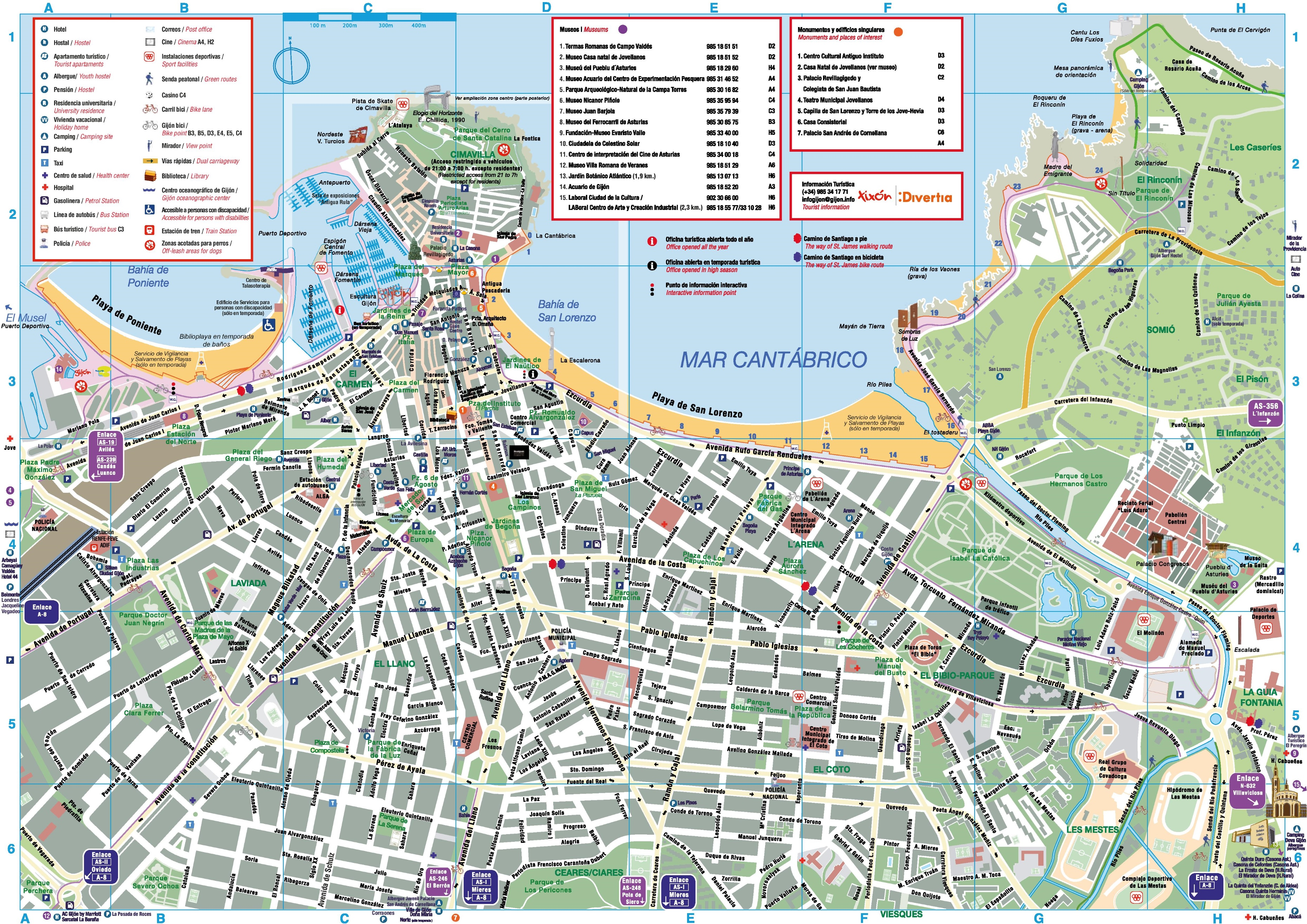 Gijon Spain Map.Gijon Tourist Map