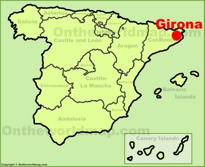 Girona Location Map