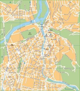 Girona tourist map