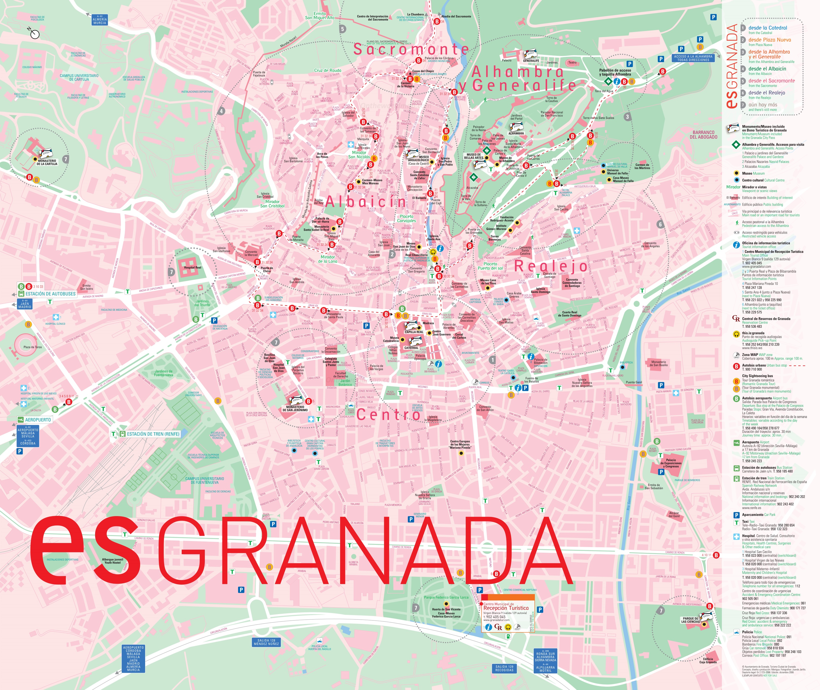 Granada bus map