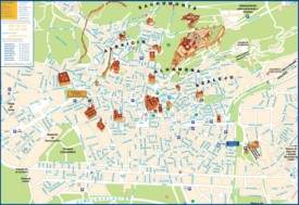 Granada city center map