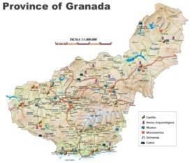 Province of Granada map