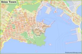 Detailed Map of Ibiza Town