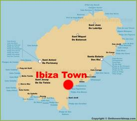 Ibiza Town Location On The Ibiza Map