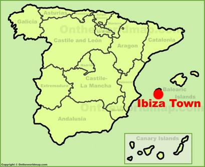 Ibiza Town Location Map