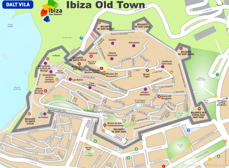 Ibiza Old Town Map