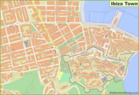 Ibiza Town Center Map