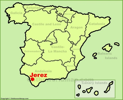 Jerez de la Frontera Location Map