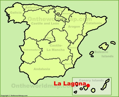 La Laguna Location Map