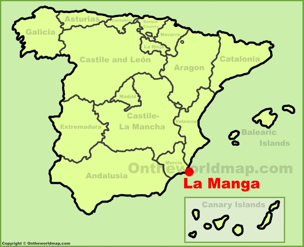 Map Of Spain La Manga.La Manga Location On The Spain Map