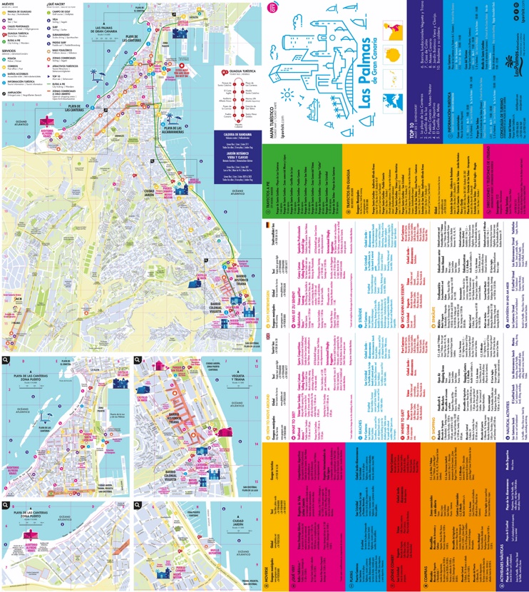 Large detailed tourist map of Las Palmas