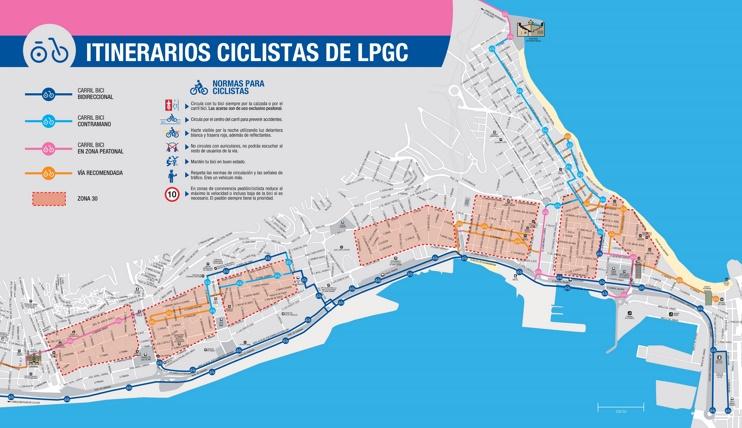 Las Palmas bike map