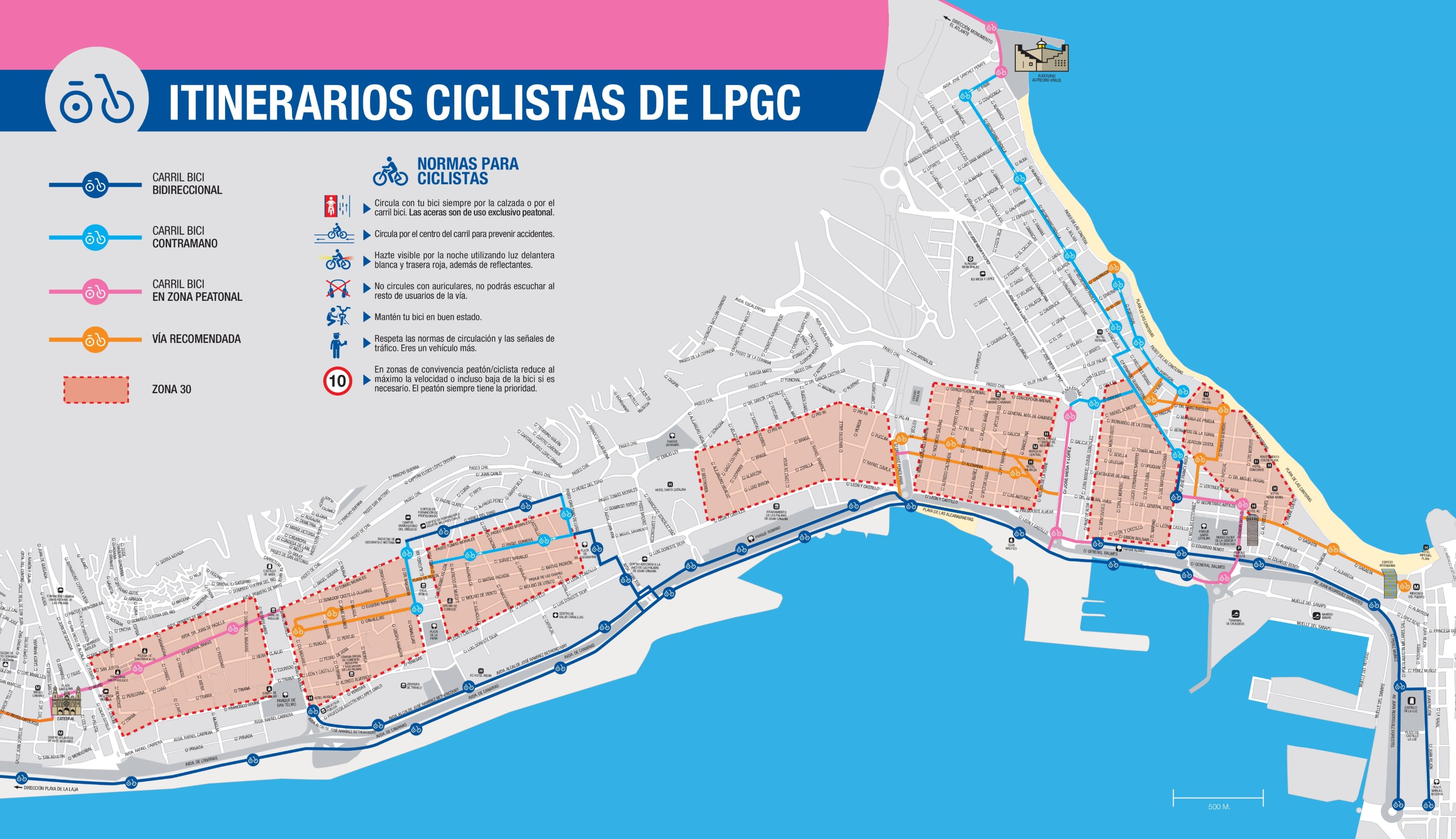 Las Palmas bike map