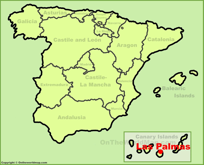 Las Palmas location on the Spain map