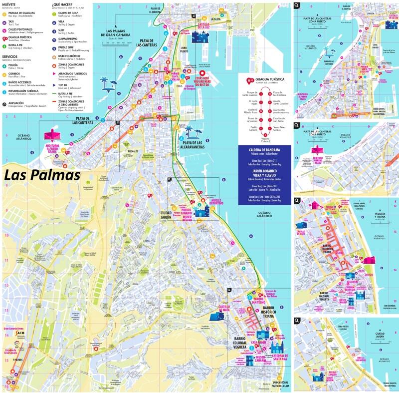 Mapa de Las Palmas