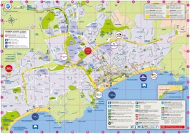 Lloret de Mar tourist map
