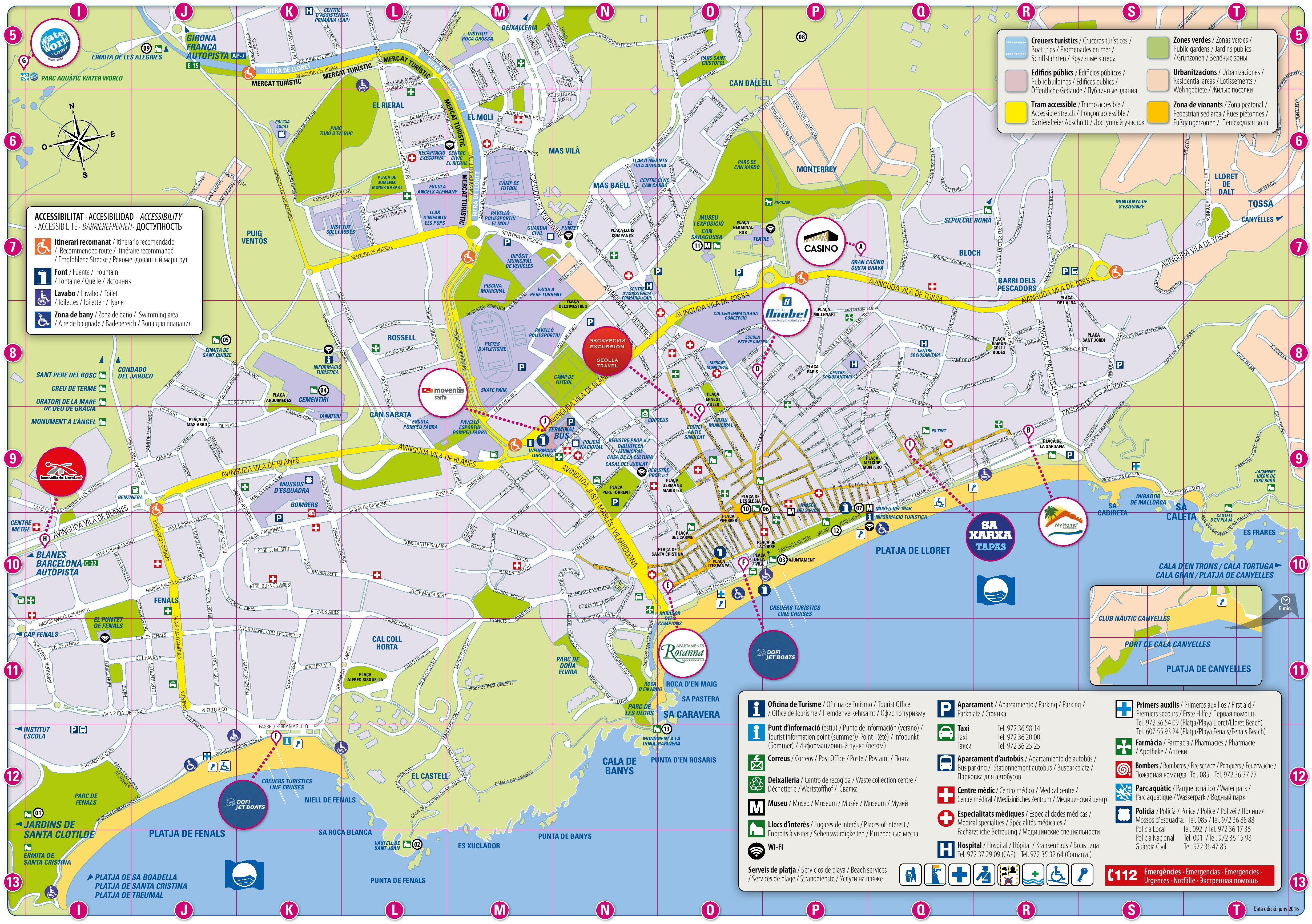 mapa de espanha lloret del mar Cantabria tourist map mapa de espanha lloret del mar