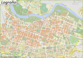 Detailed Map of Logroño