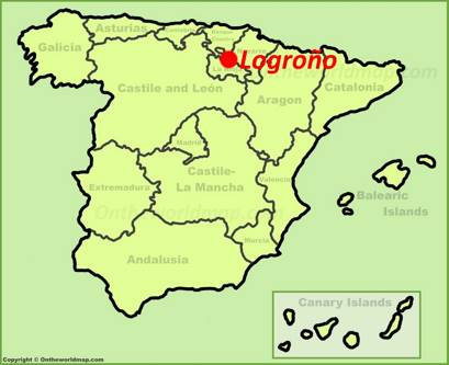 Logroño Location Map