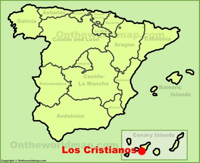 Los Cristianos Location Map