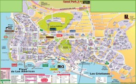 Los Cristianos and Playa de las Américas hotel map