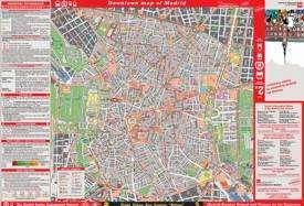 Large detailed tourist map of Madrid