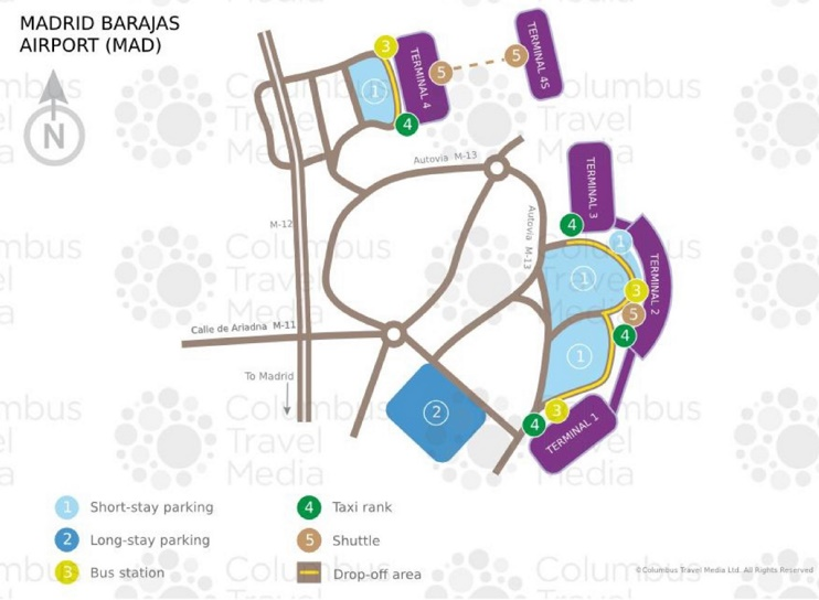 Madrid airport map