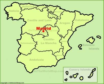 Madrid Location Map