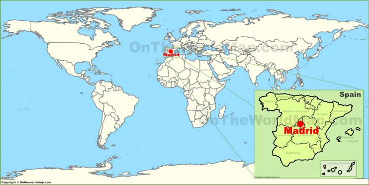 Madrid on the World Map