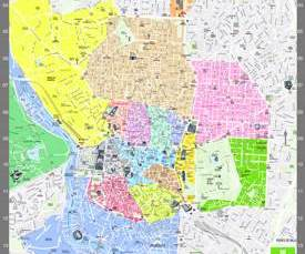 Madrid - Mapa turístico con atracciones