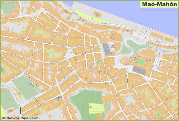 Mahón Old Town Map