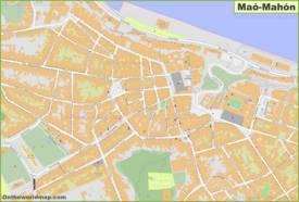 Mahón Old Town Map